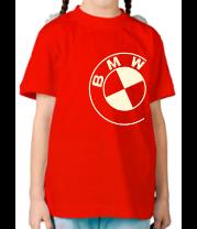 Детская футболка  БМВ значок (свет)