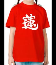 Детская футболка  Японский иероглиф - Лотос