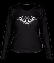 Женская футболка с длинным рукавом Бэтмен - татуировка