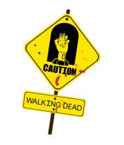Женская футболка с длинным рукавом Caution - Walking dead