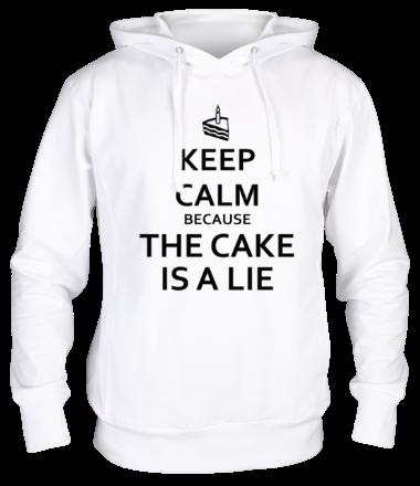 Толстовка Keep calm because the cake is a lie