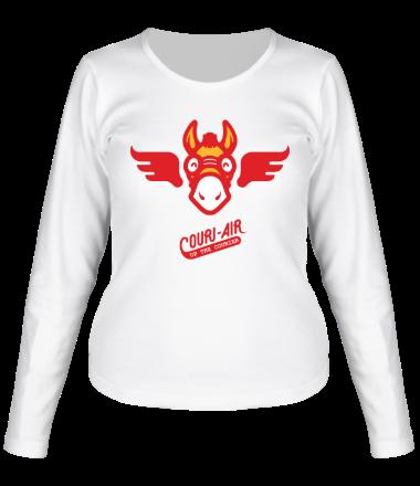 Женская футболка с длинным рукавом Up the courier