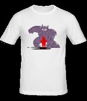 Мужская футболка  Беймакс и Хиро Хамада