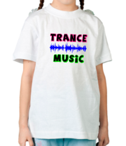 Детская футболка  Trance music