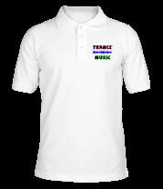 Футболка поло мужская Trance music