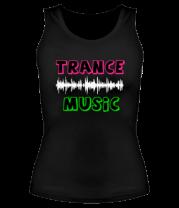 Женская майка борцовка Trance music