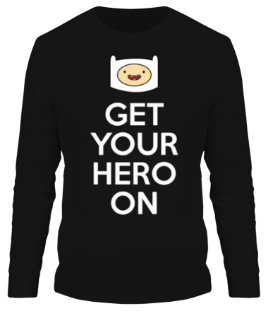 Мужская футболка с длинным рукавом Get your hero on