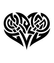 Кружка Кельтские узоры в виде сердца