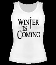 Женская майка борцовка Winter is coming