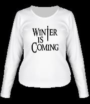 Женская футболка с длинным рукавом Winter is coming