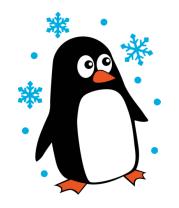 Коврик для мыши Пингвин под снегом