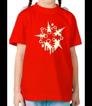 Детская футболка  Снежинка во льду
