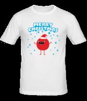 Мужская футболка  Круглый санта