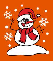 Мужская футболка  Забавный снеговик