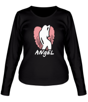 Женская футболка с длинным рукавом Angel