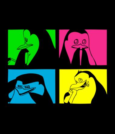 Мужская футболка  Penguins of Madagascar