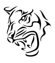Шапка Тату голова тигра