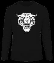 Мужская футболка с длинным рукавом Свирепый тигр
