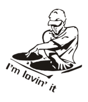 Детская футболка  Dj - I am lovin it