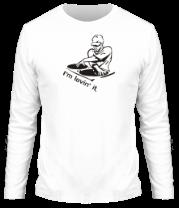 Мужская футболка с длинным рукавом Dj - I am lovin it