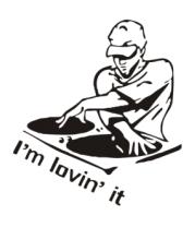 Коврик для мыши Dj - I am lovin it