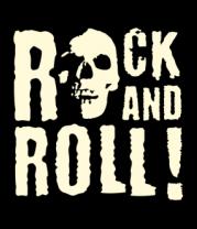 Толстовка без капюшона Rock and roll (свет)