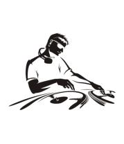 Женская футболка с длинным рукавом Dj в работе