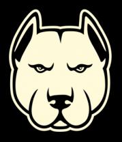 Толстовка без капюшона Суровый пёс (свет)