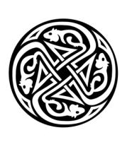 Женская майка борцовка Крысы кельтский круг