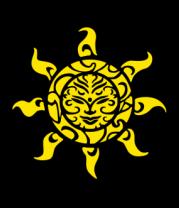 Женская футболка с длинным рукавом Рисунок солнца