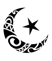 Женская футболка с длинным рукавом Исламский символ