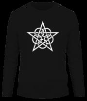 Мужская футболка с длинным рукавом Тату звезда с кругами