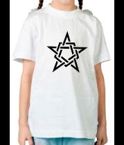 Детская футболка  Звезда в стиле кельтских узоров