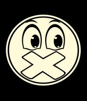 Толстовка Смайл с заклеенным ртом (свет)