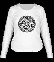 Женская футболка с длинным рукавом Узор круговорот
