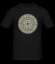 Мужская футболка  Узор круговорот (свет)