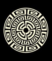Женская майка борцовка Узор круговорот (свет)