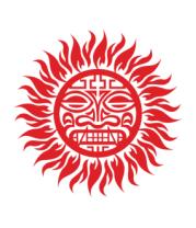 Женская майка борцовка Солнце древний символ