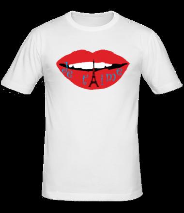 Мужская футболка  Я люблю тебя (Франция)