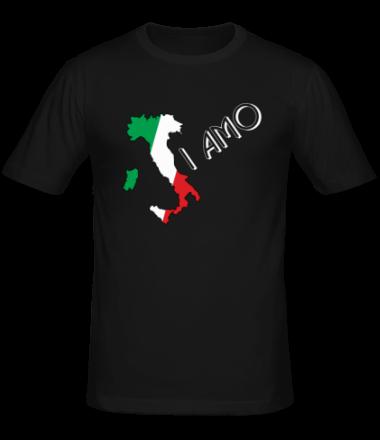 Мужская футболка  Я люблю тебя (Италия)