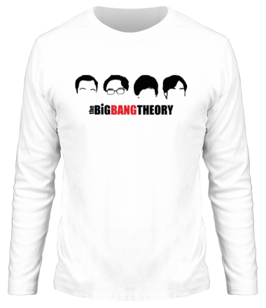 Мужская футболка с длинным рукавом The Big Bang Theory (face)