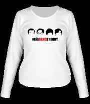 Женская футболка с длинным рукавом The Big Bang Theory (face)