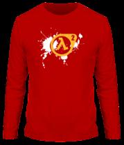 Мужская футболка с длинным рукавом Half-Life 2 (logo)