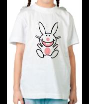 Детская футболка  Белый зайчик