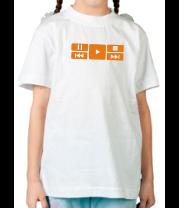 Детская футболка  Play music