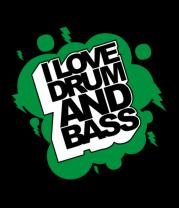 Мужская футболка с длинным рукавом I Love Drum and Bass