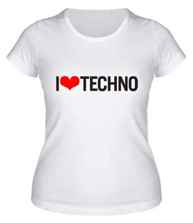 Женская футболка  I Love Techno