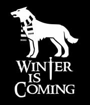 Женская футболка с длинным рукавом Winter is coming собака с шарфом