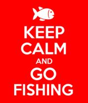 Детская футболка  Keep calm and go fishing