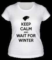 Женская футболка  Wait for winter